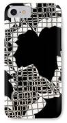 Abstract Leaf Pattern - Black White Sepia IPhone Case by Natalie Kinnear