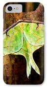 Abstract Luna Moth Painterly IPhone Case