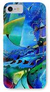 Abstract Mindscape No.5-improvisation Piano And Trumpet IPhone Case by Wolfgang Schweizer