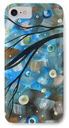 Abstract Original Landscape Art In A Trance Art By Madart IPhone Case