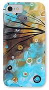 Abstract Painting Chocolate Brown Whimsical Landscape Art Baby Blues By Madart IPhone Case