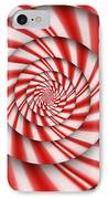 Abstract - Spirals - The Power Of Mint IPhone Case