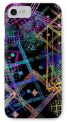 Abstract Squares Pattern Fractal Flame IPhone Case by Keith Webber Jr