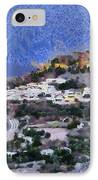 Acropolis Village And Beach Of Lindos IPhone Case