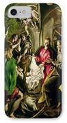 Adoration Of The Shepherds IPhone Case by El Greco Domenico Theotocopuli