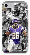Adrian Peterson Vikings IPhone Case by Joe Hamilton