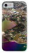 Aerial View Of Bay. Rainbow Earth IPhone Case by Jenny Rainbow