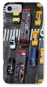 Aerial View Of New York City Traffic IPhone Case by Amy Cicconi
