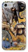 African Collage IPhone Case by Cynthie Fisher