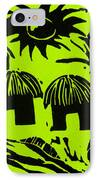 African Huts Yellow IPhone Case by Caroline Street