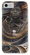 African Spirits I IPhone Case by Ricardo Chavez-Mendez