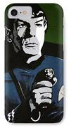 Aiming His Phaser IPhone Case by Judith Groeger