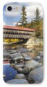 Albany Covered Bridge IPhone Case by Eric Gendron
