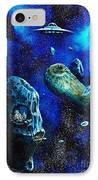 Alien Space Hideout IPhone Case by Murphy Elliott