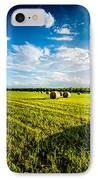All American Hay Bales IPhone Case by David Morefield