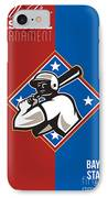 All Star Baseball Tournament Retro Poster IPhone Case
