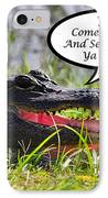 Alligator Yall Come Back Card IPhone Case