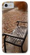 Alone With Autumn IPhone Case by Steven Milner