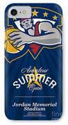 Amateur Summer Basketball League Open Poster IPhone Case by Aloysius Patrimonio