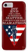 American Female Marathon Runner Retro Poster IPhone Case by Aloysius Patrimonio
