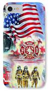 American Firefighters IPhone Case by Andrew Read
