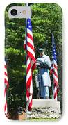 American Flag - Civil War Memorial -  Luther Fine Art IPhone Case by Luther Fine Art