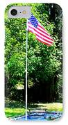American Flag - Honoring John IPhone Case by Tap On Photo