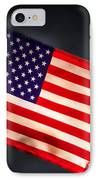 American Flag In Smoke IPhone Case by Olivier Le Queinec