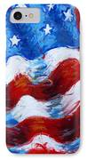 American Flag IPhone Case by Venus