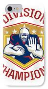 American Football Division Champions Shield IPhone Case by Aloysius Patrimonio