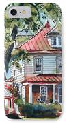 American Home With Children's Gazebo IPhone Case by Kip DeVore