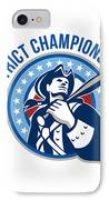 American Patriot Baseball District Champions IPhone Case by Aloysius Patrimonio