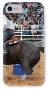 American Rodeo Female Barrel Racer Dark Horse II IPhone Case