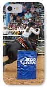 American Rodeo Female Barrel Racer Dark Horse Iv IPhone Case