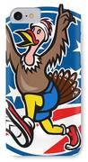 American Turkey Run Runner Cartoon IPhone Case
