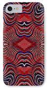 Americana Swirl Banner 2 IPhone Case