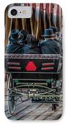 Amish Family On Covered Bridge IPhone Case by Gene Sherrill