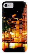 Amsterdam At Night Four IPhone Case by John Malone