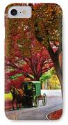 An Amish Autumn Ride IPhone Case by Lianne Schneider