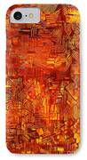 An Autumn Abstraction IPhone Case by Michael Kulick