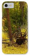 An Old Grass Cutter In Lincoln City New Mexico IPhone Case by Jeff Swan