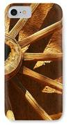 An Old Wagon Wheel In Carillos New Mexico IPhone Case