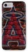 Angels Baseball Graffiti On Brick  IPhone Case by Movie Poster Prints