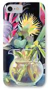 Anna's Protea Flowers Transparent IPhone Case