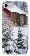 Another Wintry Barn IPhone Case