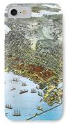 Antique 1891 Seattle Map IPhone Case by Dan Sproul
