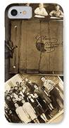 Antique Autograph And Photo Albums And Photos IPhone Case by Amy Cicconi