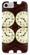 Antique Clock Abstract . Horizontal IPhone Case by Renee Trenholm