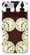Antique Clock Abstract . Standard IPhone Case by Renee Trenholm