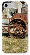 Antique Hay Bailer 1 IPhone Case by Douglas Barnett